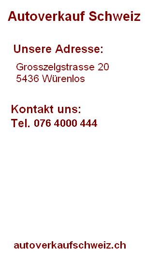 Autoverkauf Schweiz Info